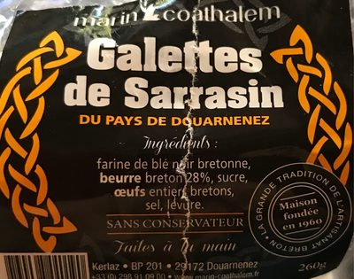 Galettes de Sarrasin du Pays de Douarnenez