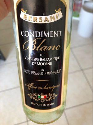 Condiment blanc