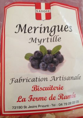 Meringues Myrtille