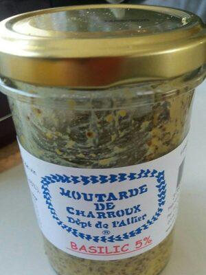 Moutarde de charroux basilic