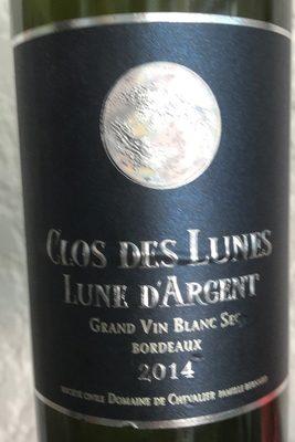 Vin blanc sec 2014