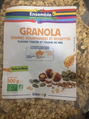Granola graines gourmandes et noisettes