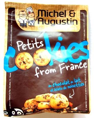 Petits Cookies from France au Chocolat au Lait et Éclats de Noisettes