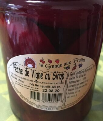 Peches de vignes au sirop