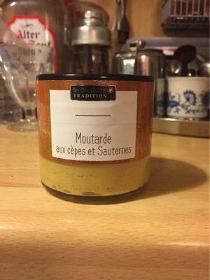 Moutarde aux cepes et sauterne