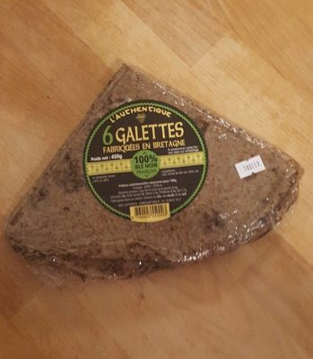 6 galettes fabriqués en Bretagne