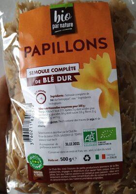 Papillon Semoule complète de blé dur 500 gr