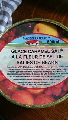 Glace caramel salé à la fleur de sel de Salies de Béarn