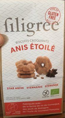 Filigree biscuit croquant anis etoile