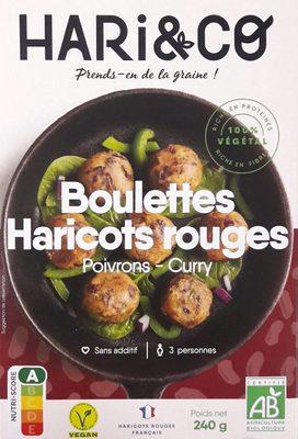 Boulettes Haricots rouges - Poivrons - Curry
