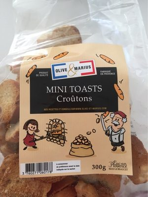 Mini toasts croutons