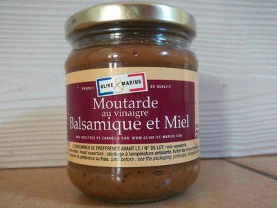 Moutarde au vinaigre balsamique et miel