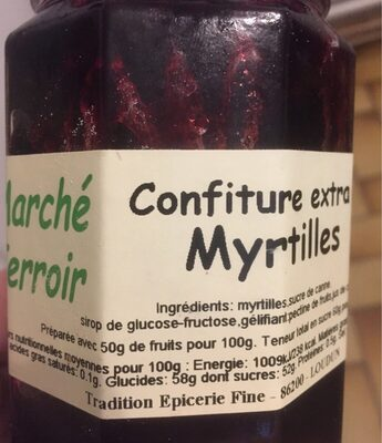 Confiture Myrtilles