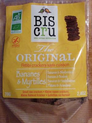 Petits crackers sans cuisson Bananes & Myrtilles
