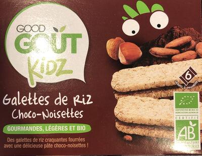 Galettes de riz choco-noisettes-Good Gout Kidz-120g