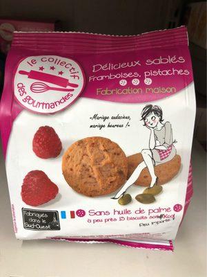 Delicieux sablés Framboises, pistaches