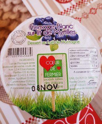 Fromage Blanc sur lit de Myrtille