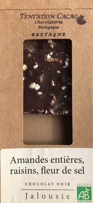 Amandes entières, raisins, fleur de sel