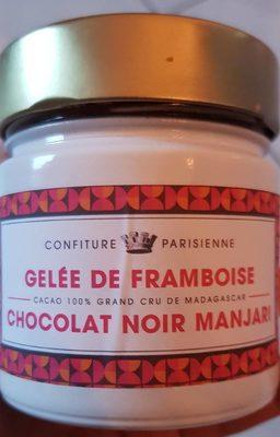 Gelée de framboise chocolat noir