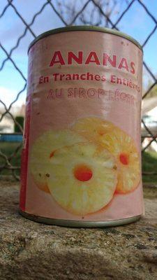 Ananas en tranches entières au sirop léger