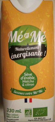 Mé-Mé Énergisante - Sève d'érable Matcha & citron