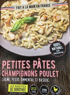 Petites pâtes champignons poulet