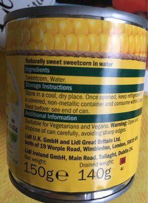 Naturally sweet sweetcorn