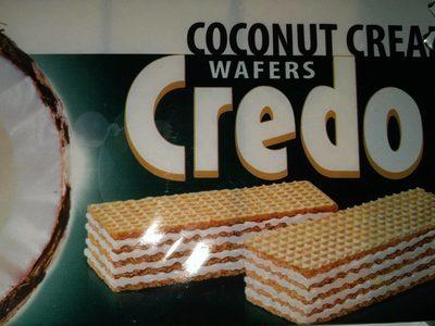 Coconut cream wafers