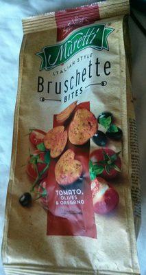 Bruschette bites tomato, olives & oregano