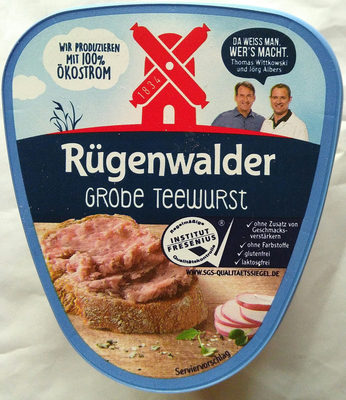 Grobe Teewurst