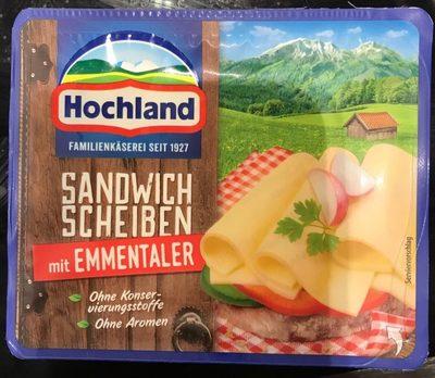 Sandwich scheiben emmentaler