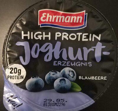 High Protein Joghurt Erzeugnis Blauberre