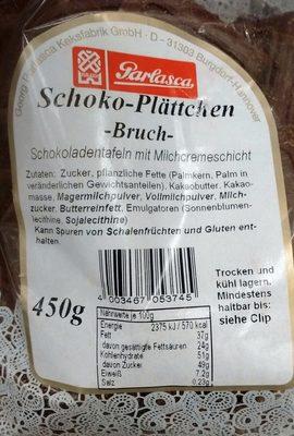 Schoko-Plättchen Bruch