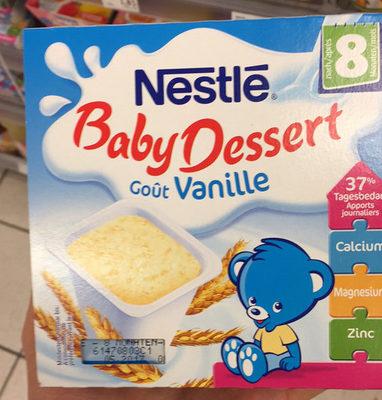Baby Dessert goût vanille