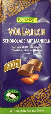 Chocolat Lait Amandes Entieres