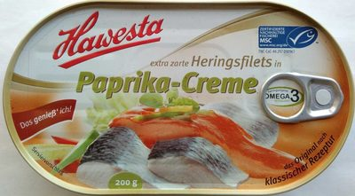 Extra zarte Heringsfilets in Paprika-Creme
