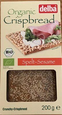 Delba Organic Spelt & Sesame Crispbread