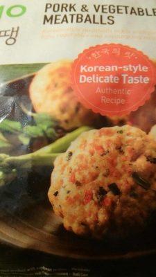 Pork & Vegetable Meatballs
