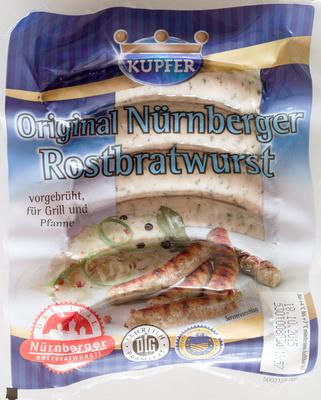 Original Nürnberger Rostbratwurst