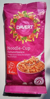 Davert Bio Noodle cup Tomatensauce, 67 G