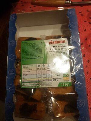 Mini marbrés fourrés au cacao