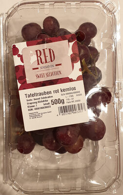Tafeltrauben rot kernlos, Sorte: Sweet Celebration, Klasse: I