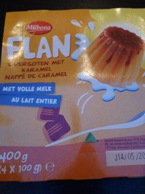 Flan nappé de caramel