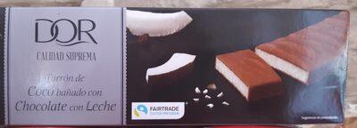 Turrón de coco bañado con Chocolate con Leche