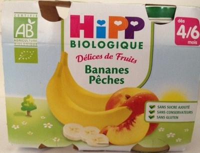 Délices de Fruits Bananes Pêches