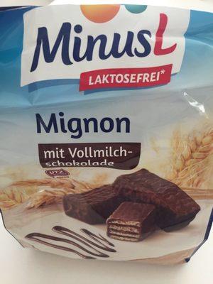 Mignon mit Vollmilch-schokolade