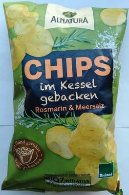 Chips im Kessel gebacken Rosmarin & Meersalz