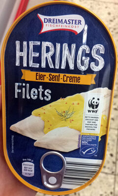 Heringsfilets in Eier-Senf-Creme