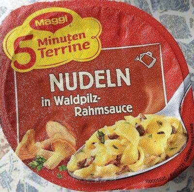 Nudeln in Waldpilz-Rahmsauce