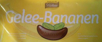 Gelee Bananen mit Zartbitterüberzug